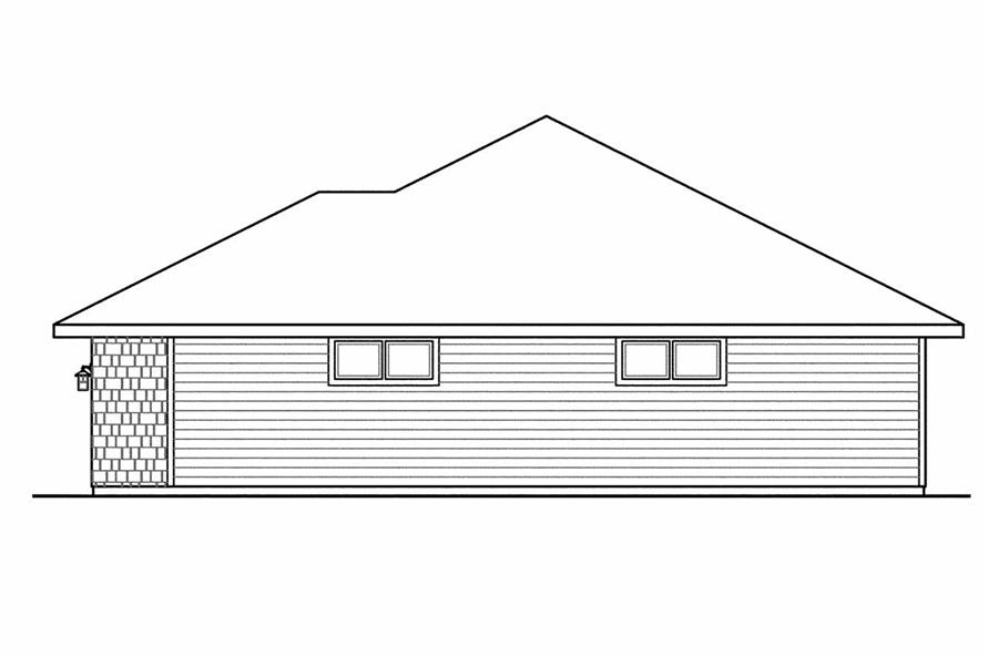 108-1521: Home Plan Right Elevation