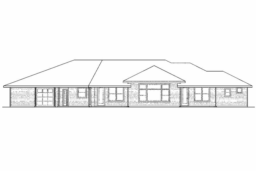 Home Plan Rear Elevation of this 3-Bedroom,2657 Sq Ft Plan -108-1521