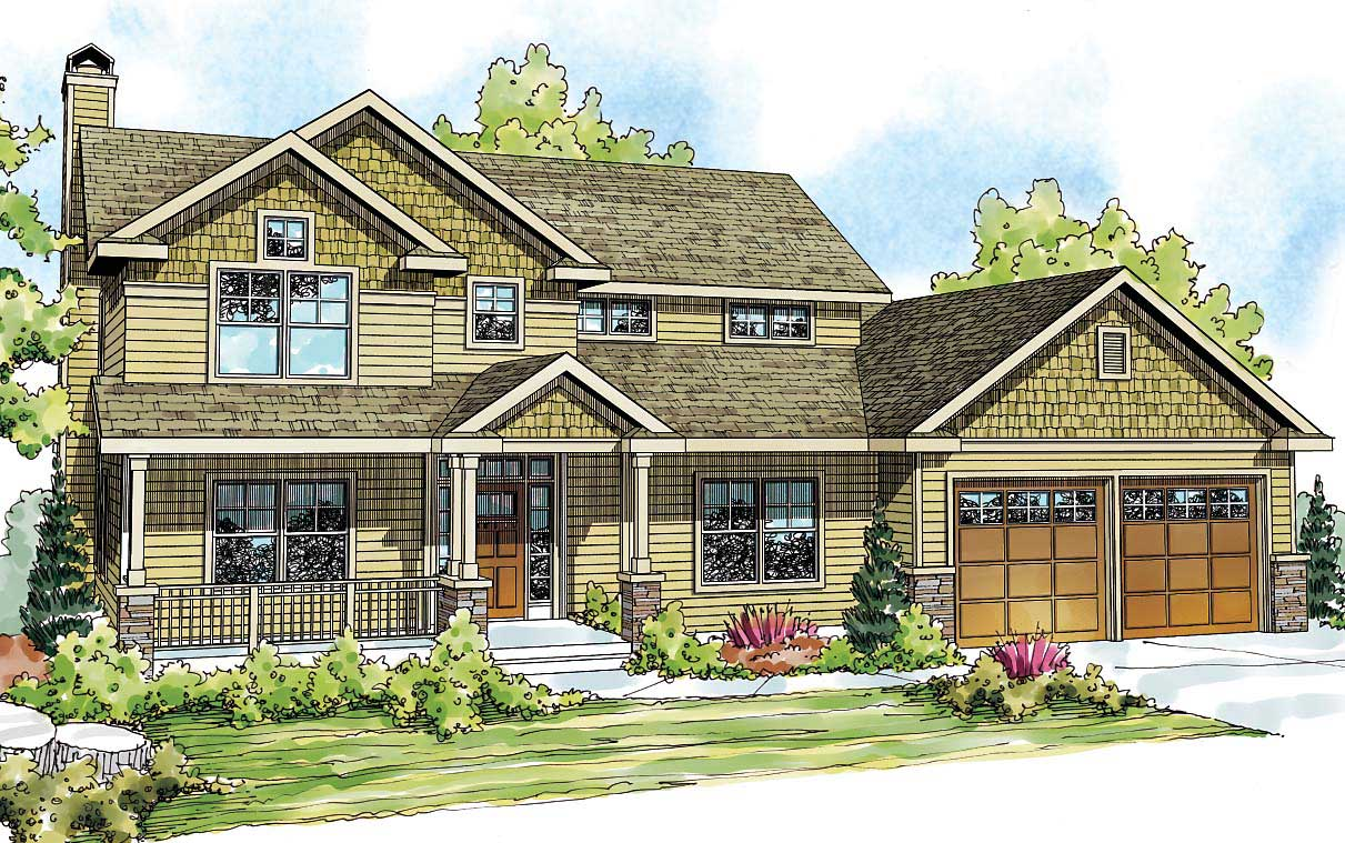 Country craftsman home with 4 bedrms 2893 sq ft plan for Country craftsman