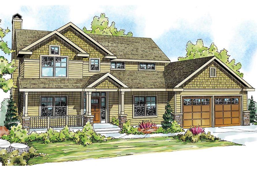 4-Bedroom, 2893 Sq Ft Country Home Plan - 108-1527 - Main Exterior