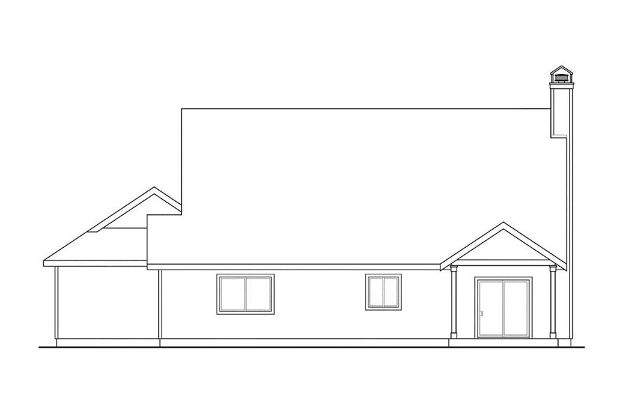 Home Plan Rear Elevation of this 4-Bedroom,2893 Sq Ft Plan -108-1527