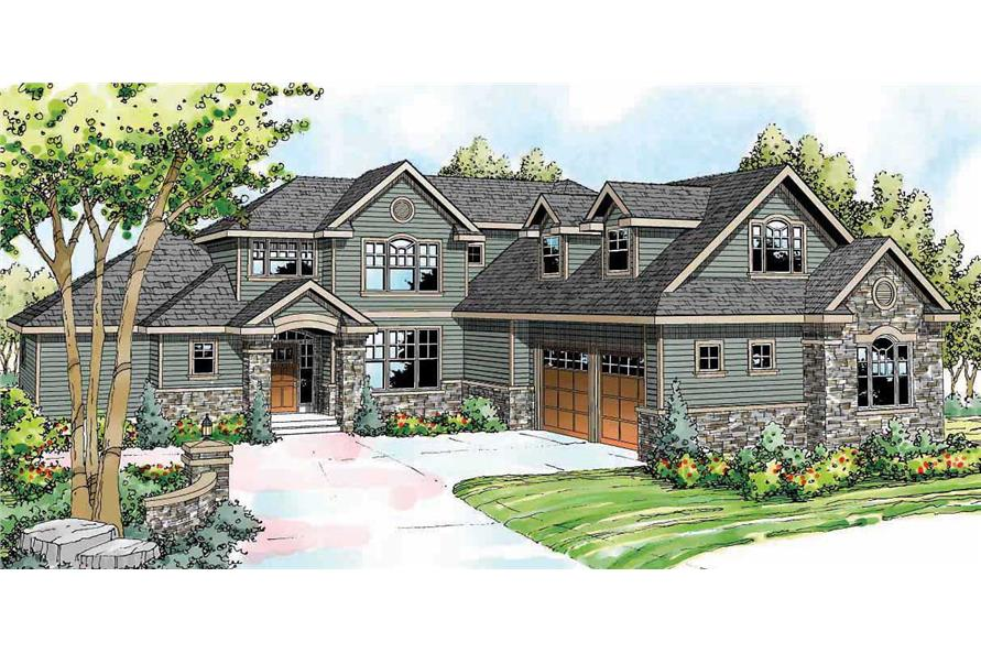 3-Bedroom, 3340 Sq Ft Craftsman House Plan - 108-1529 - Front Exterior