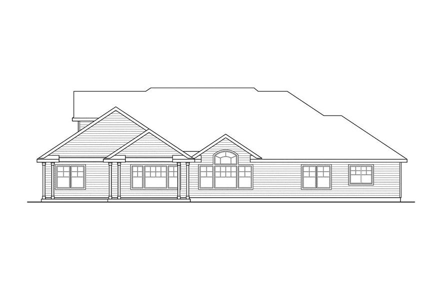 Home Plan Rear Elevation of this 3-Bedroom,3340 Sq Ft Plan -108-1529