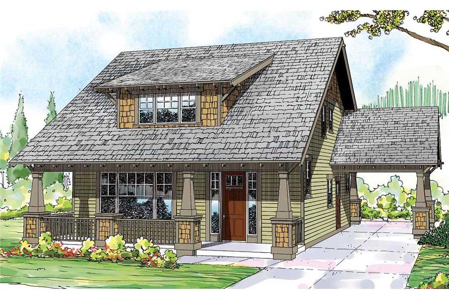 craftsman house plans 3000 sq ft.  108 1530 This is the colored front rendering for these Craftsman House Plans Bungalow Home with 3 Bedrms 2026 Sq Ft Plan