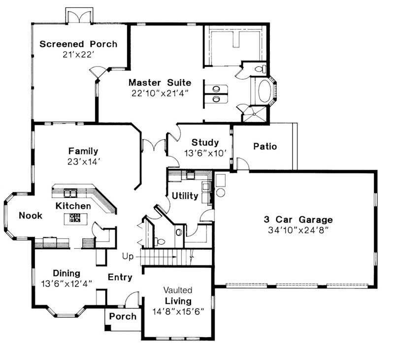 First Floor Floor Plan for Amherst