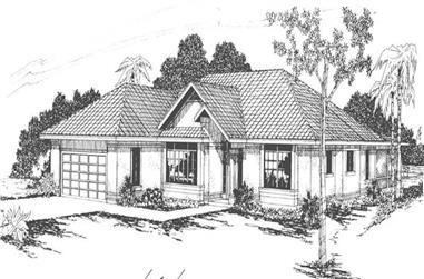 4-Bedroom, 2022 Sq Ft Mediterranean House Plan - 108-1537 - Front Exterior