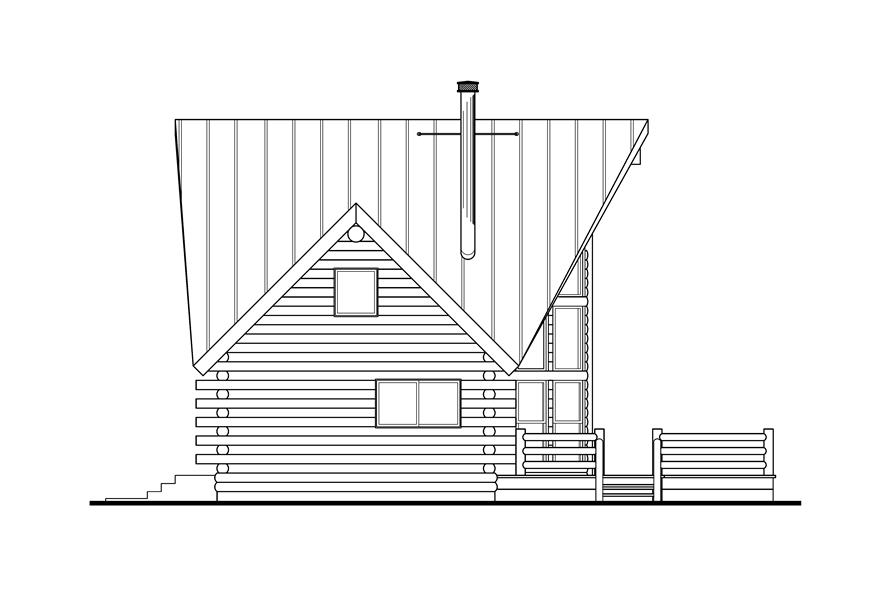 108-1538: Home Plan Left Elevation