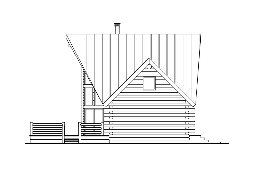 108-1538: Home Plan Right Elevation