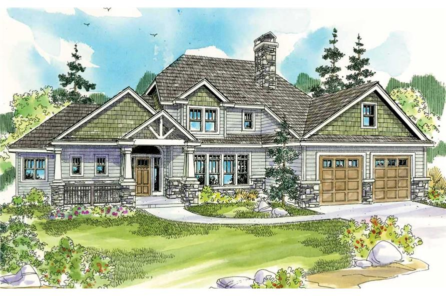3-Bedroom, 3232 Sq Ft Country Home Plan - 108-1540 - Main Exterior