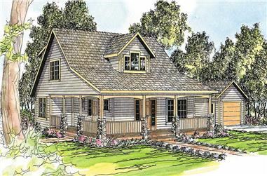 5-Bedroom, 2288 Sq Ft Country House Plan - 108-1543 - Front Exterior