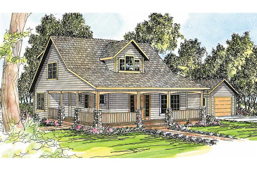 Country craftsman home with 5 bedrms 2288 sq ft plan for Country craftsman home plans