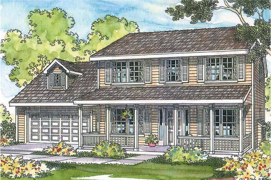 Home Plan Rendering of this 3-Bedroom,1608 Sq Ft Plan -1608