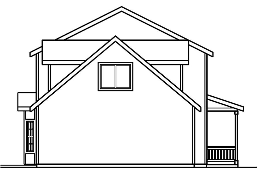 Home Plan Left Elevation of this 3-Bedroom,1608 Sq Ft Plan -108-1544