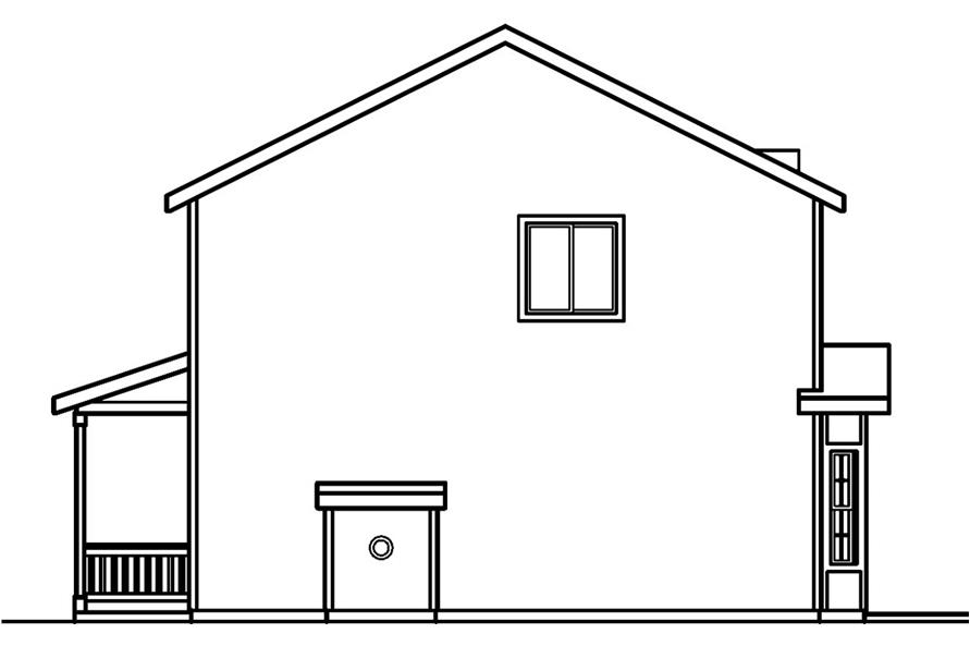 Home Plan Right Elevation of this 3-Bedroom,1608 Sq Ft Plan -108-1544
