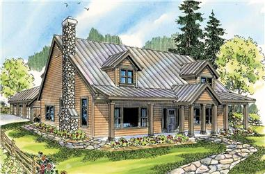 3-Bedroom, 2886 Sq Ft Country House Plan - 108-1546 - Front Exterior
