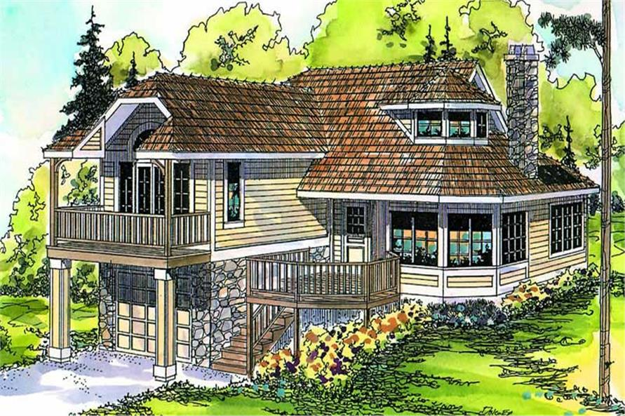 1-Bedroom, 1434 Sq Ft Contemporary Home Plan - 108-1549 - Main Exterior