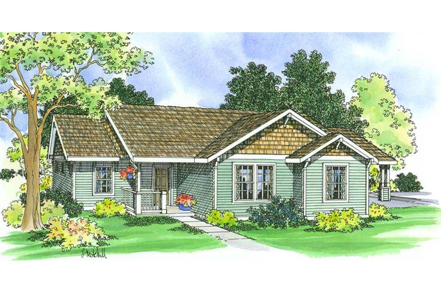 3-Bedroom, 1060 Sq Ft Small House Plans - 108-1551 - Main Exterior