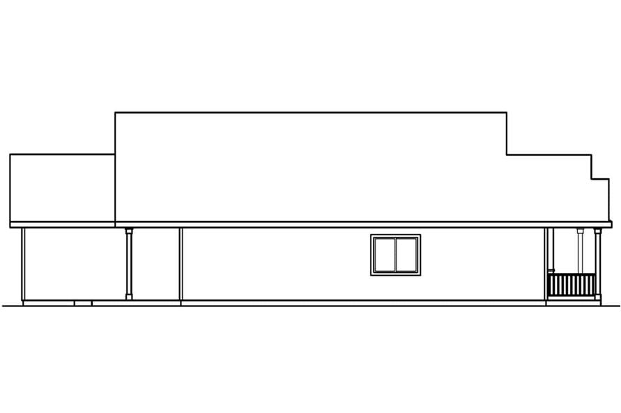 Home Plan Left Elevation of this 3-Bedroom,1598 Sq Ft Plan -108-1552
