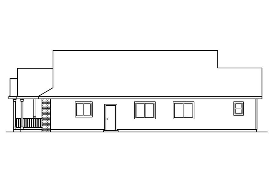 Home Plan Right Elevation of this 3-Bedroom,1598 Sq Ft Plan -108-1552