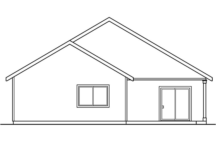 Home Plan Rear Elevation of this 3-Bedroom,1598 Sq Ft Plan -108-1552