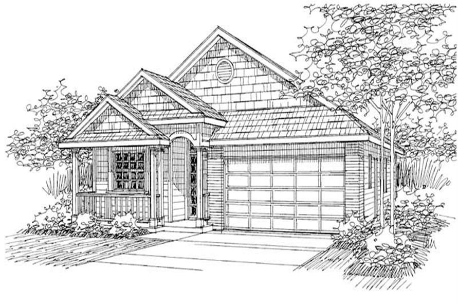 3-Bedroom, 1598 Sq Ft Arts and Crafts Home Plan - 108-1552 - Main Exterior