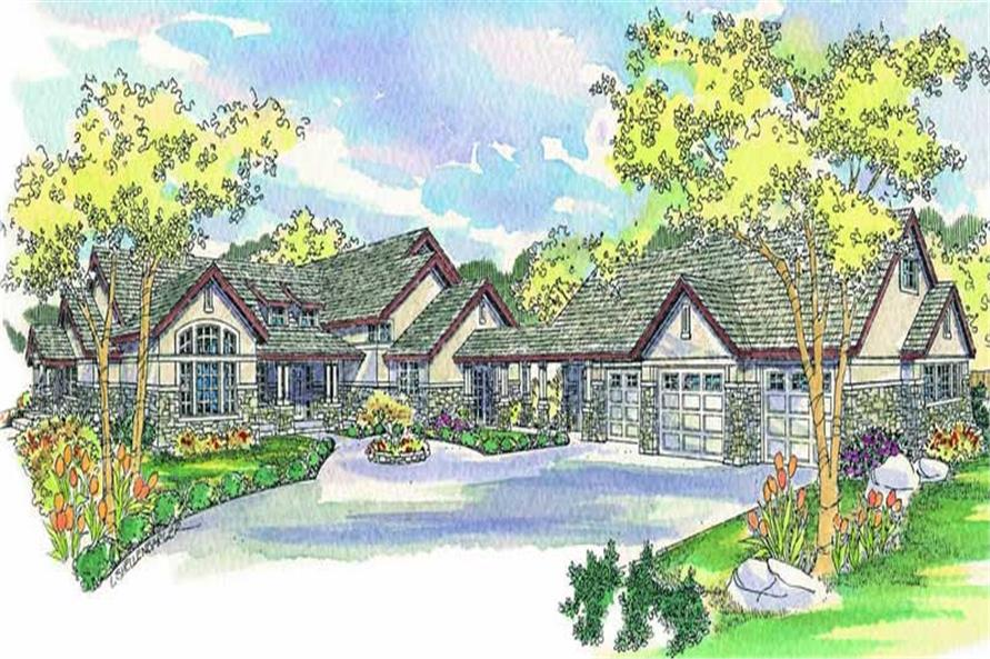 3-Bedroom, 4104 Sq Ft Craftsman House Plan - 108-1553 - Front Exterior