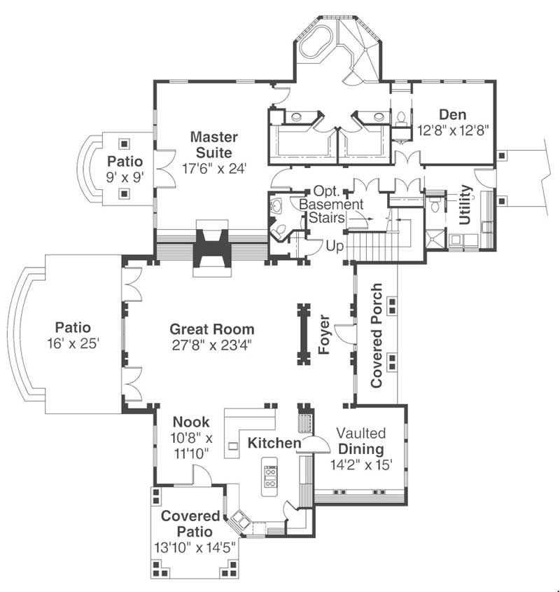 First Floor Floor Plan for Everheart