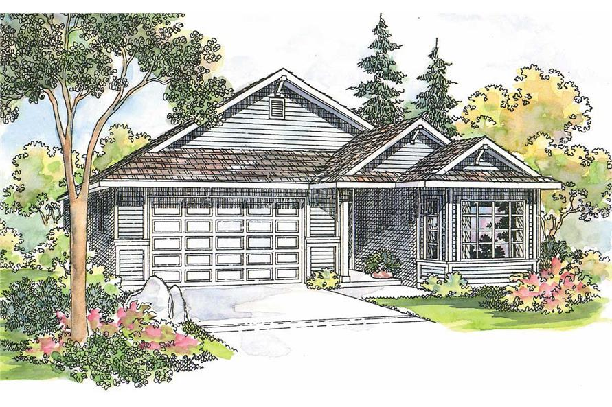 3-Bedroom, 1632 Sq Ft Contemporary Home Plan - 108-1554 - Main Exterior