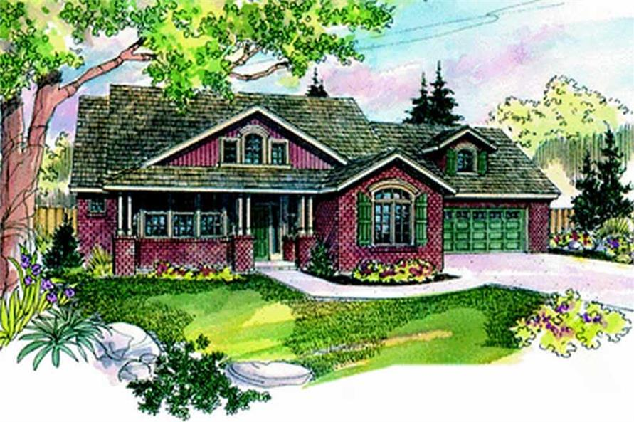 3-Bedroom, 2698 Sq Ft Country Home Plan - 108-1555 - Main Exterior