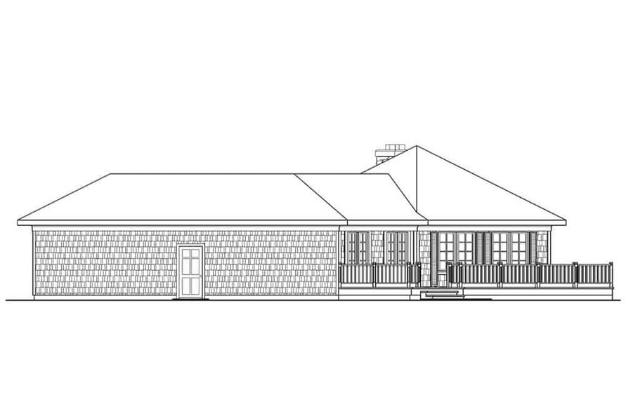 Home Plan Right Elevation of this 3-Bedroom,2292 Sq Ft Plan -108-1556