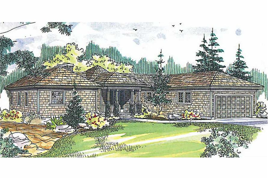 3-Bedroom, 2292 Sq Ft Ranch House - Plan #108-1556 - Front Exterior