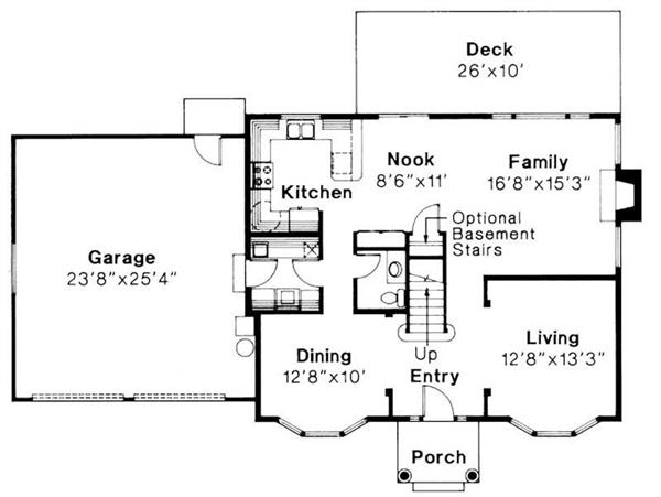 First Floor Floor Plan for Westport