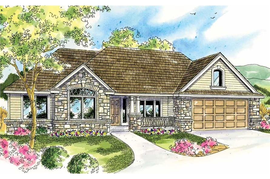 3-Bedroom, 2828 Sq Ft Cape Cod Home Plan - 108-1561 - Main Exterior