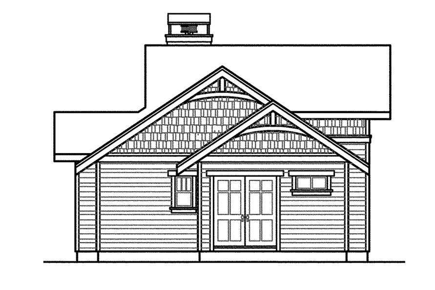 Home Plan Right Elevation of this 3-Bedroom,3537 Sq Ft Plan -108-1562
