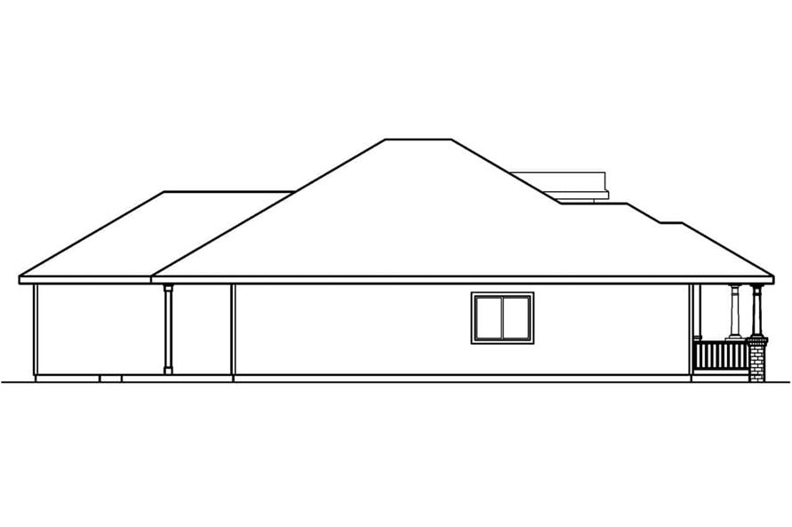 Home Plan Left Elevation of this 3-Bedroom,1598 Sq Ft Plan -108-1564