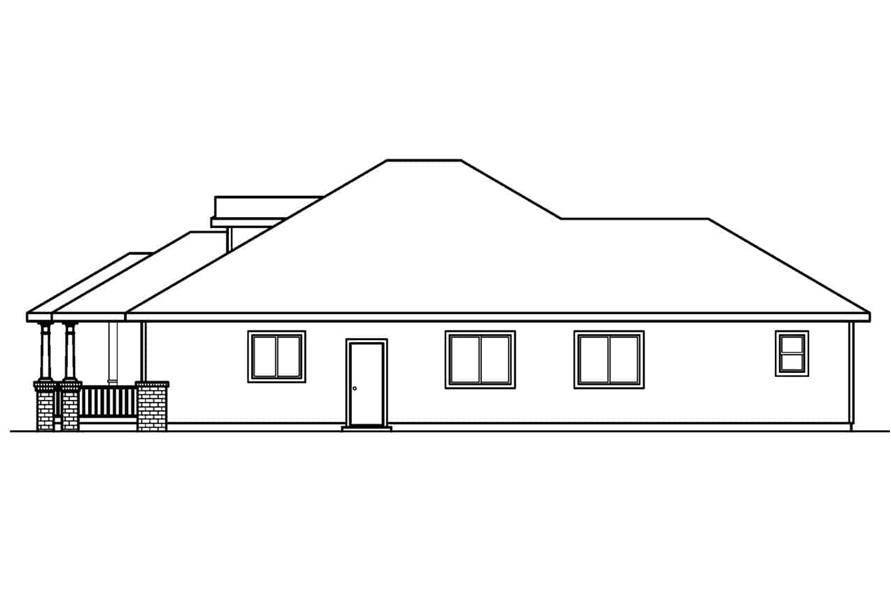 Home Plan Right Elevation of this 3-Bedroom,1598 Sq Ft Plan -108-1564