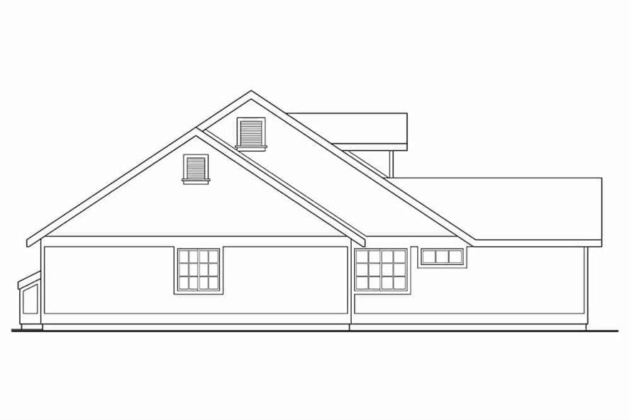 Home Plan Left Elevation of this 3-Bedroom,1901 Sq Ft Plan -108-1565