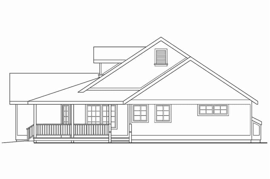 Home Plan Right Elevation of this 3-Bedroom,1901 Sq Ft Plan -108-1565