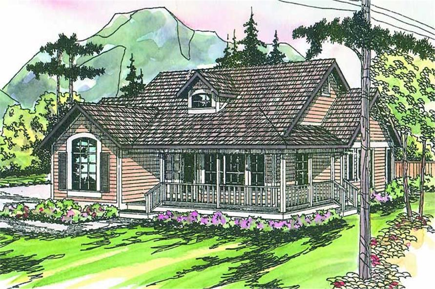 3-Bedroom, 1901 Sq Ft Contemporary Home Plan - 108-1565 - Main Exterior