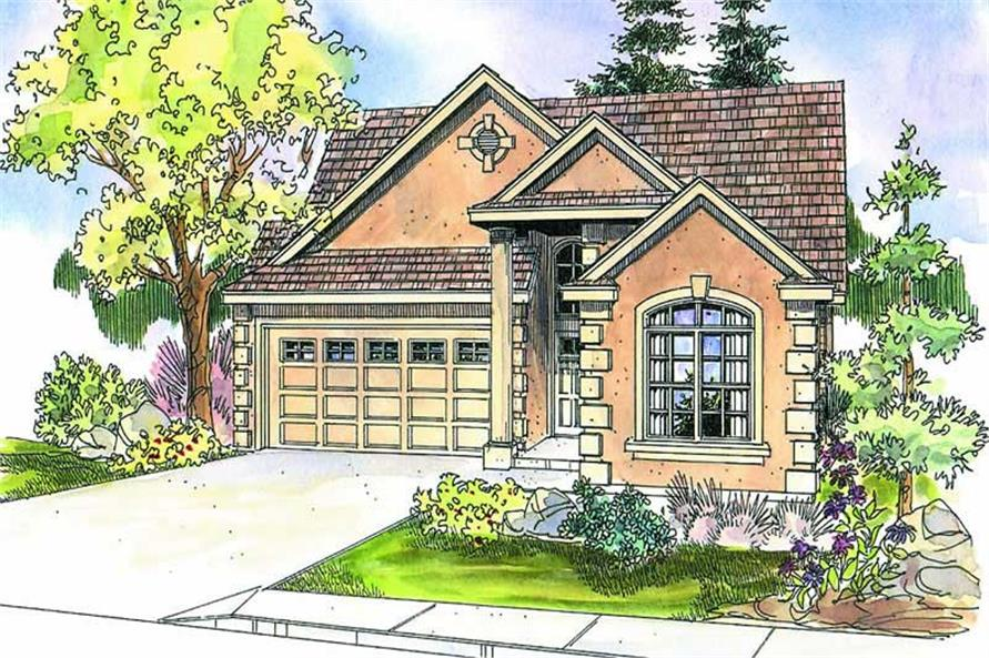 3-Bedroom, 2011 Sq Ft Southwest Home Plan - 108-1566 - Main Exterior