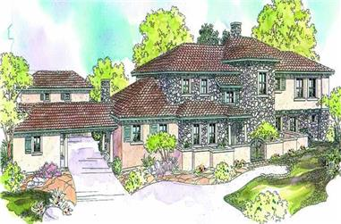 5-Bedroom, 6455 Sq Ft European Home Plan - 108-1567 - Main Exterior