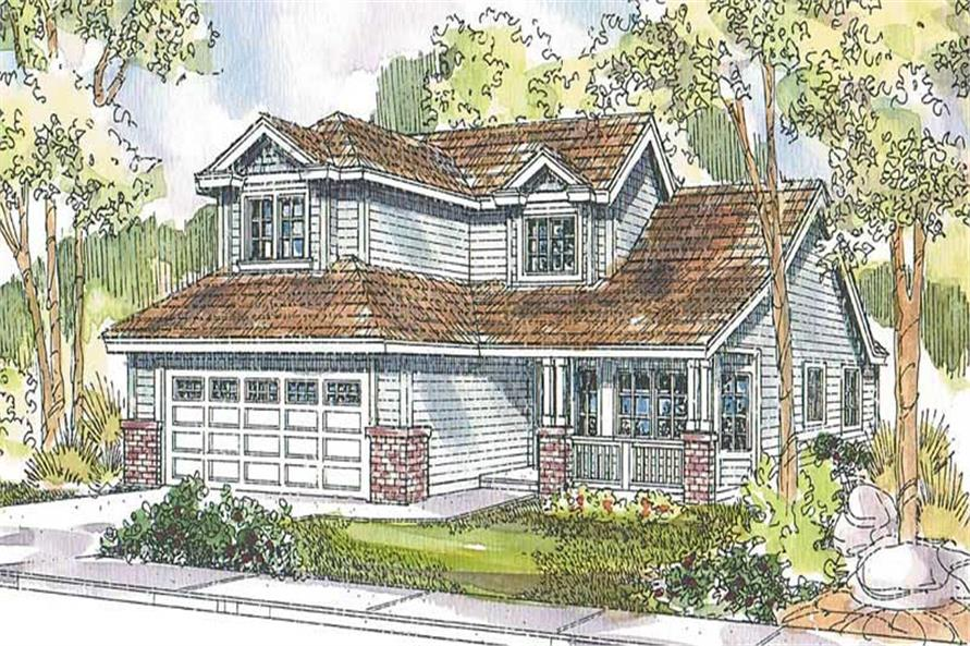 3-Bedroom, 2045 Sq Ft Contemporary House Plan - 108-1570 - Front Exterior