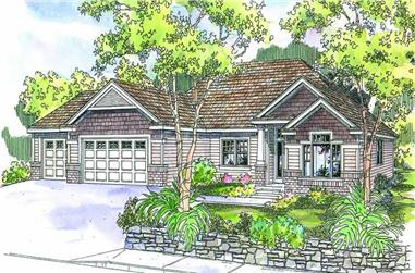 3-Bedroom, 2270 Sq Ft Craftsman Home Plan - 108-1577 - Main Exterior
