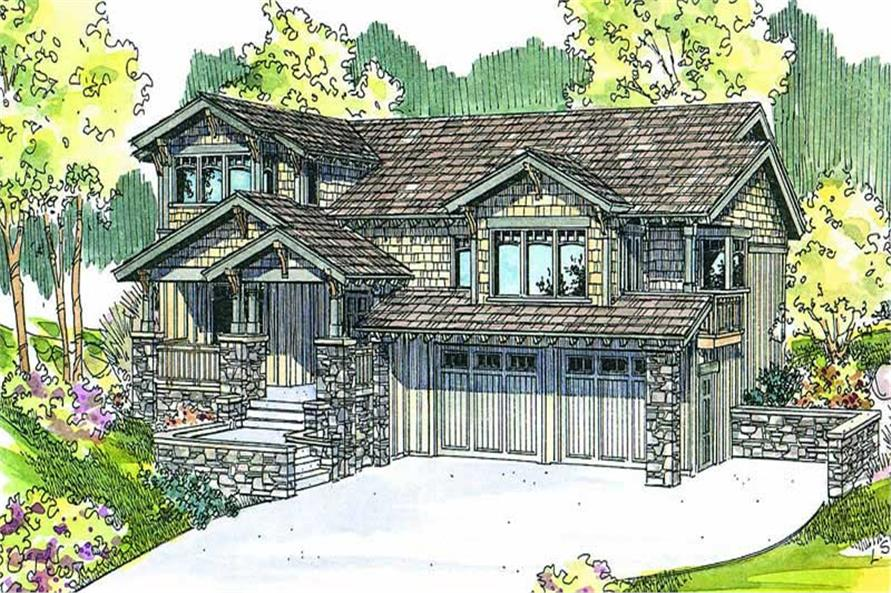 3-Bedroom, 3224 Sq Ft Ranch House Plan - 108-1580 - Front Exterior