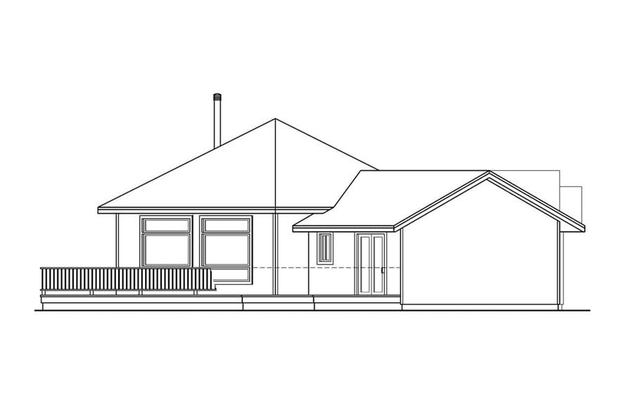 Home Plan Left Elevation of this 3-Bedroom,2001 Sq Ft Plan -108-1581