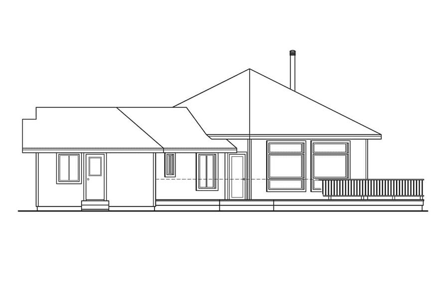 Home Plan Right Elevation of this 3-Bedroom,2001 Sq Ft Plan -108-1581