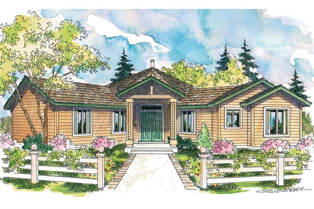 Contemporary home (ThePlanCollection: Plan #108-1581)