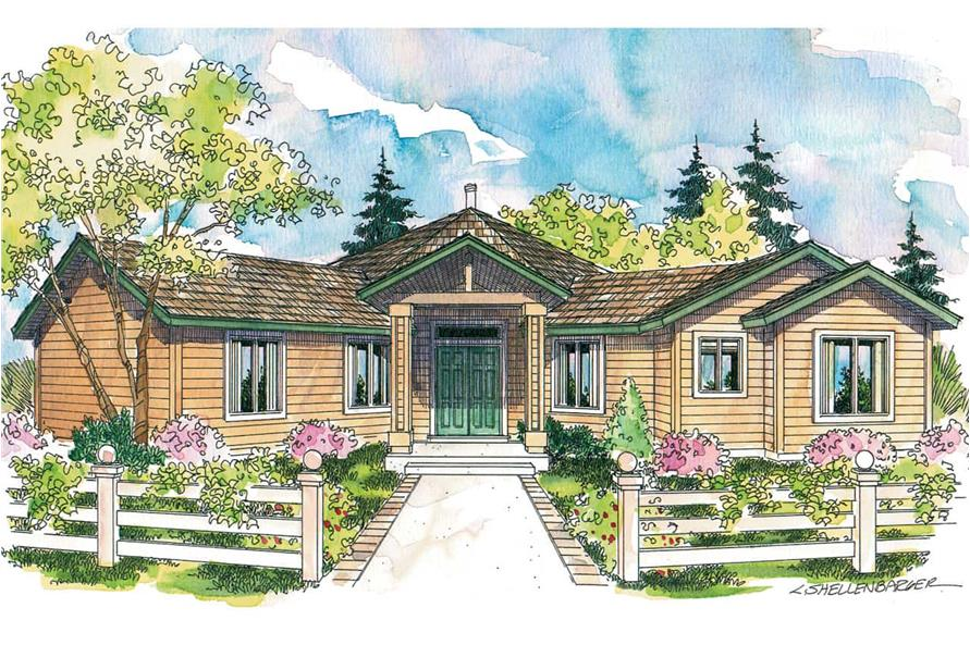3-Bedroom, 2001 Sq Ft Contemporary House - Plan #108-1581 - Front Exterior