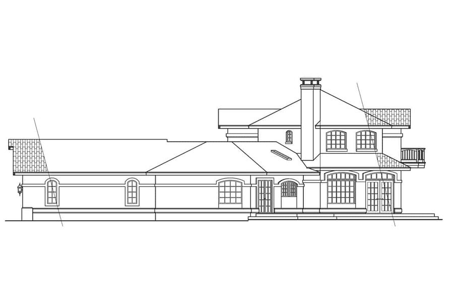Home Plan Right Elevation of this 3-Bedroom,2979 Sq Ft Plan -108-1582