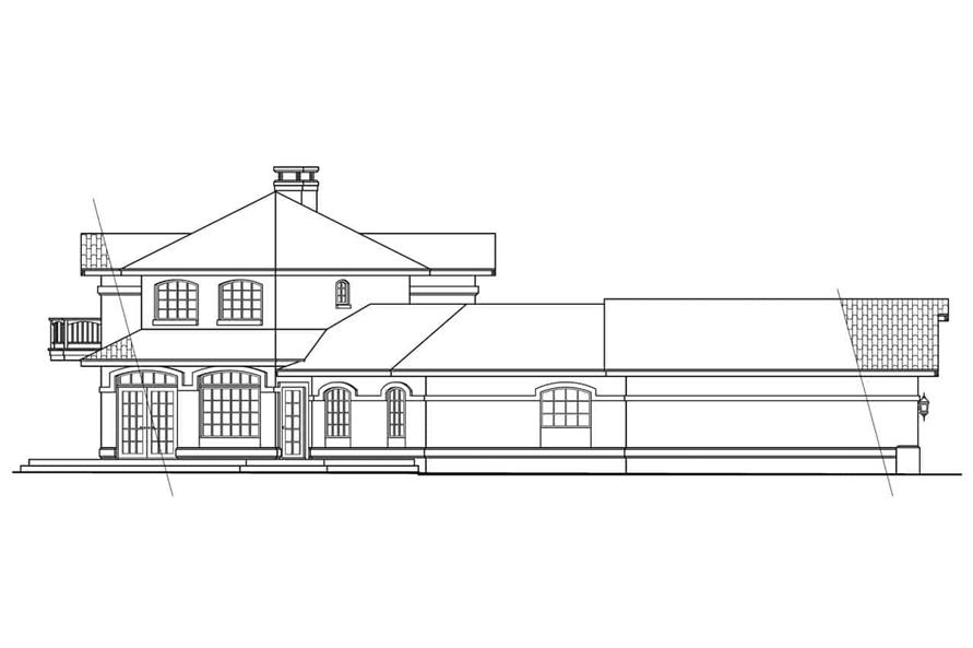 Home Plan Left Elevation of this 3-Bedroom,2979 Sq Ft Plan -108-1582